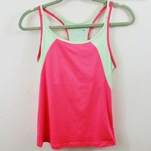 New balance watermelon color racerback tank